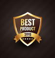 best product of 2015 golden label design badge vector image vector image