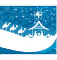 birth of Jesus in Bethlehem - abstract card vector image