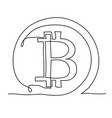 bitcoin continuous line icon cryptocurrency vector image vector image