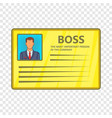 card of boss icon cartoon style vector image