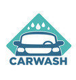 carwash car cleaning service isolated icon vehicle vector image vector image