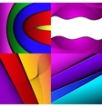 Collection of abstract multicolored backgrounds vector image vector image