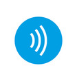 contactless payment icon tap to pay concept vector image vector image