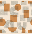 contemporary seamless pattern with aesthetic hand vector image vector image