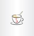 cup tea clipart icon vector image