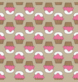cupcake pattern beige pink art background vector image