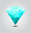 Cyan diamond polygon vector image