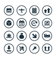 delivery icons universal set vector image vector image