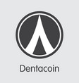 dentacoin - digital currency vector image vector image