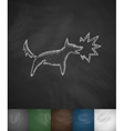 dog barking icon vector image vector image