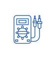 electrical car service line icon concept vector image vector image