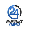 emergency service hospital twenty-four circle vector image vector image