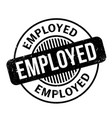 employed rubber stamp vector image vector image