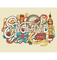 England art abstract hand lettering and doodles vector image