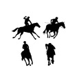 Equestrian Show Silhouette vector image vector image
