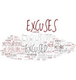 excused word cloud concept vector image vector image