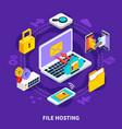 file hosting isometric design concept vector image