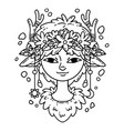 forest spirit girl vector image