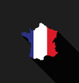 France flag map flat design vector image vector image