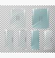 glass door transparent front vector image