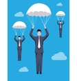Golden parachute business concept vector image