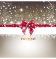 Greeting card with red bow and copy space vector image vector image