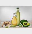 healthy fat products vector image