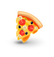 icon of pizza margarita concept of classic vector image vector image