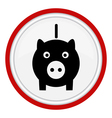 icon pig vector image
