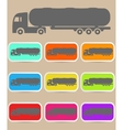 Icon trucks with tanks vector image vector image