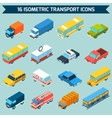 Isometric Transport Icons Set vector image vector image