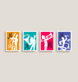 jazz musician band player men doodle poster set vector image