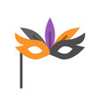 masquerade mask halloween related icon flat design vector image