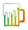 mug beer glass drink alcohol traditional vector image vector image