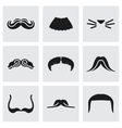 Mustaches icon set vector image vector image
