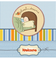 new baby boy arrived vector image vector image
