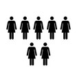 people icon - group of women team pictogram symbol vector image vector image