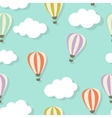 Retro Seamless Pattern with Air Balloons vector image