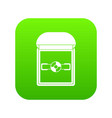 ring in a velvet box icon digital green vector image