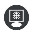 Round globe monitor icon vector image vector image