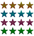 rounded star black star collection with stripes vector image vector image