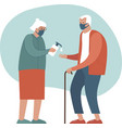 safety measures for elderly people vector image