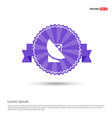 satellite dish icon - purple ribbon banner vector image