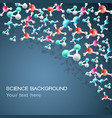 science molecule background vector image vector image