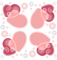 Seamless flower heart doodle background pattern vector image vector image