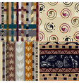 Set of African Tribal patterns vector image vector image