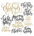 set of hand lettering christmas quotes vector image