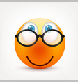 smiley with blue eyesemoticon set yellow face vector image vector image