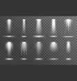 spotlights on transparent background realistic vector image