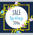 spring sale special season calligraphy flowers vector image
